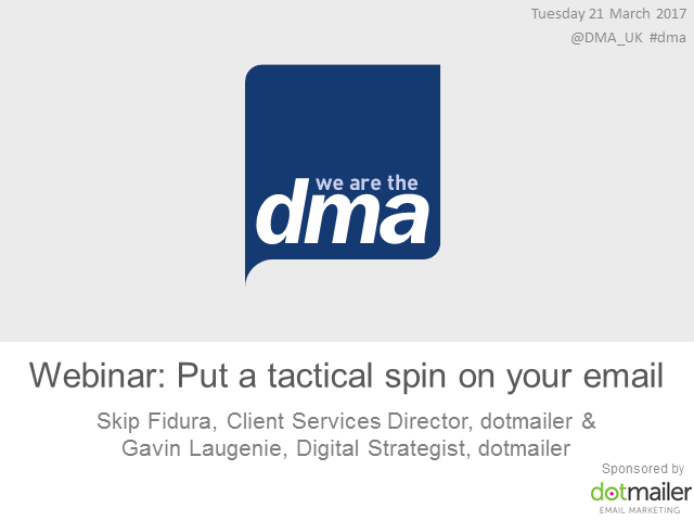 Webinar: Put a tactical spin on your email