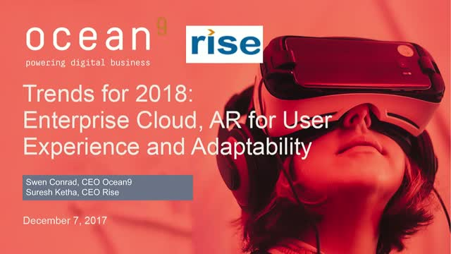 Trends for 2018: Enterprise Cloud, AR for User Experience and Adaptability