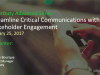 Streamline Critical Communications With Stakeholder Engagement