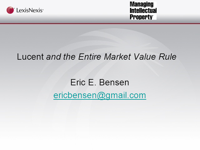 Patent damages in a post-Lucent landscape