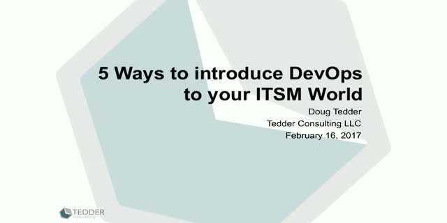 5 Ways to Introduce DevOps to your ITSM World