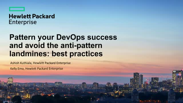 Pattern your DevOps success & avoid the anti-pattern landmines: best practices