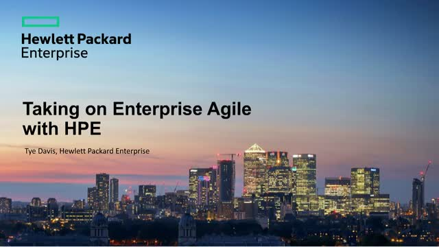 Taking on Enterprise Agile with HPE