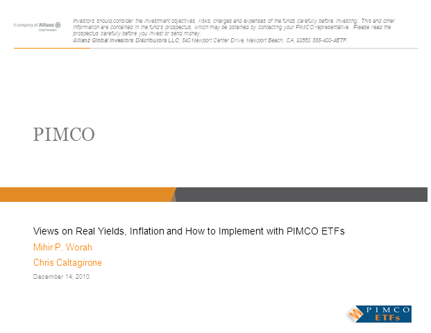 Views on Real Yields & Inflation, and How to Implement with PIMCO