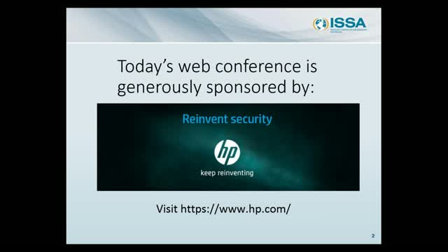 HP/ISSA Jan 2017 Webinar - 2016 Security Review & Predictions for 2017