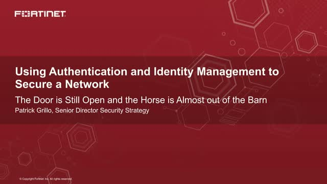 Using Authentication and Identity Management to Secure a Financial Network