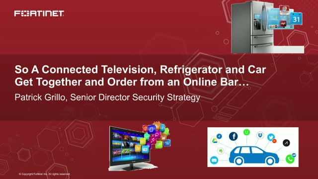 A Connected TV, Fridge and Car Get Together and Order from an Online Bar...