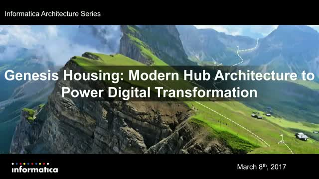 Genesis Housing: Modern Hub Architecture to Power Digital Transformation