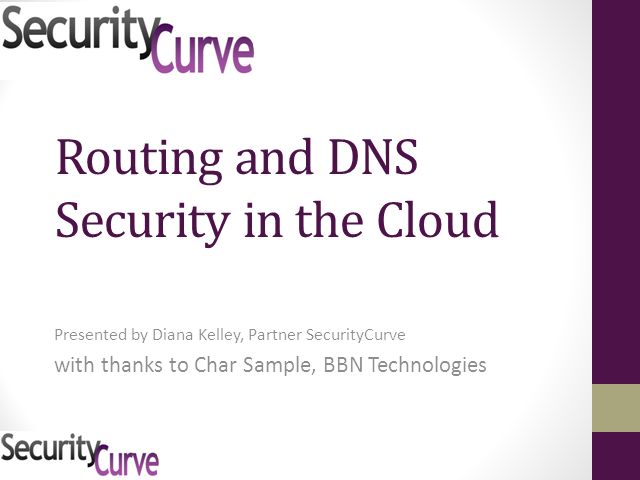 Routing and DNS Security in the Cloud