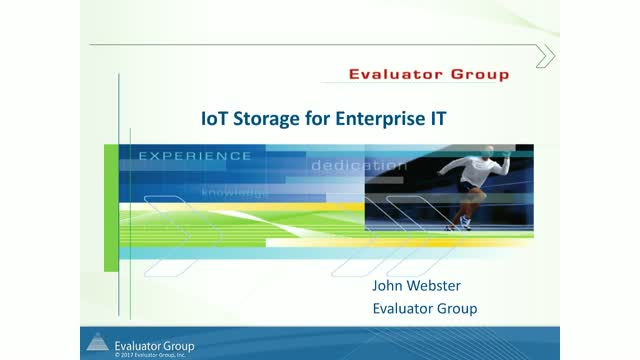 Storage Architectures for IoT