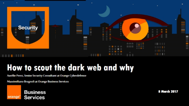 How to scout the dark web and why