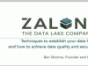 Techniques to Establish Your Data Lake: How to Achieve Data Quality and Security
