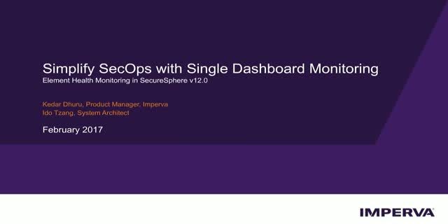 Tech Demo - Simplify SecOps with Single-Dashboard Monitoring