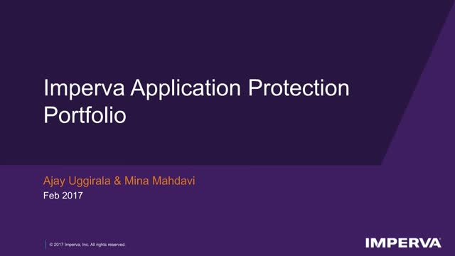 Tech Demo - Imperva Application Protection Portfolio