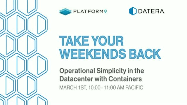 Operational Simplicity in the Datacenter with Containers