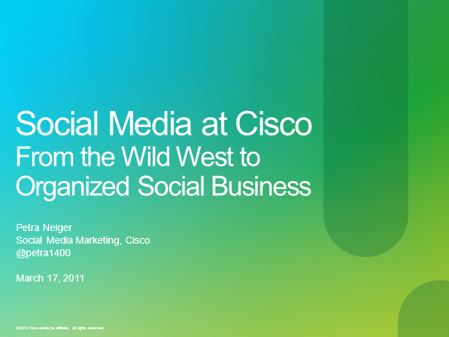 Case Study: Cisco and the Social Web