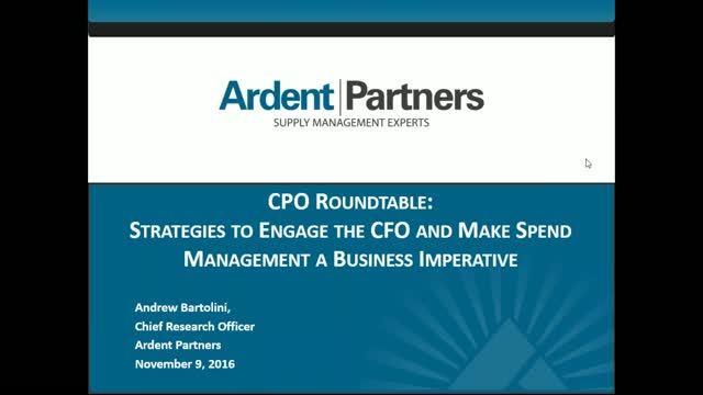 CPO Roundtable: Strategies to Engage the CFO on Spend Management