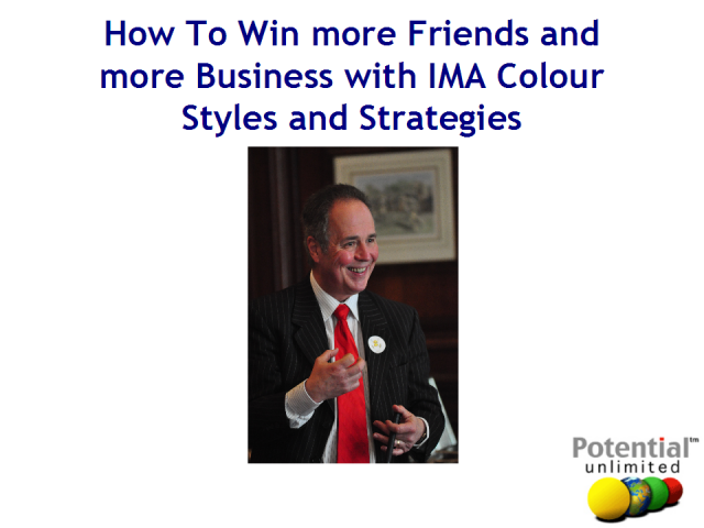 Win more friends and business through IMA Styles and Strategies.