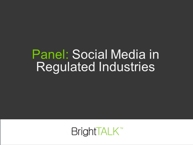 Social Media in Regulated Industries
