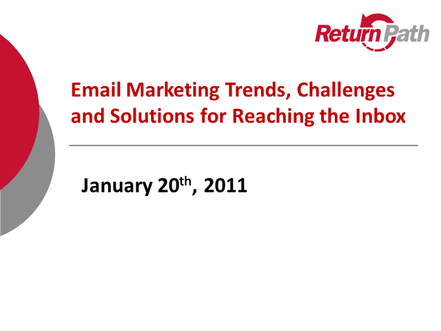 Challenges and Solutions for Reaching the Inbox