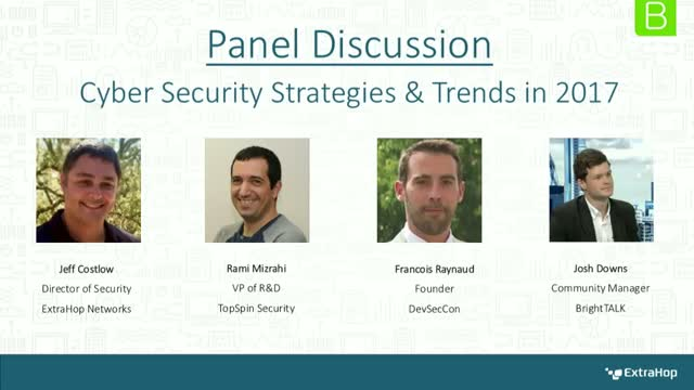 Panel Discussion: Cyber Security Strategies and Trends in 2017