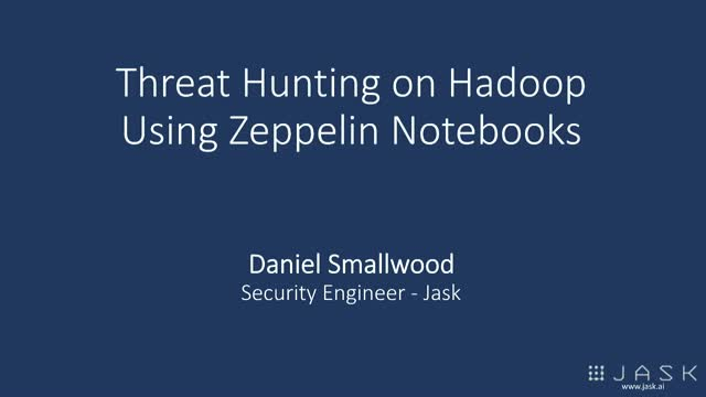 Threat Hunting on Hadoop using Zeppelin Notebooks