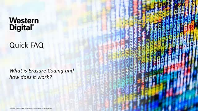 Quick FAQ - What is Erasure Coding & How Does it Work