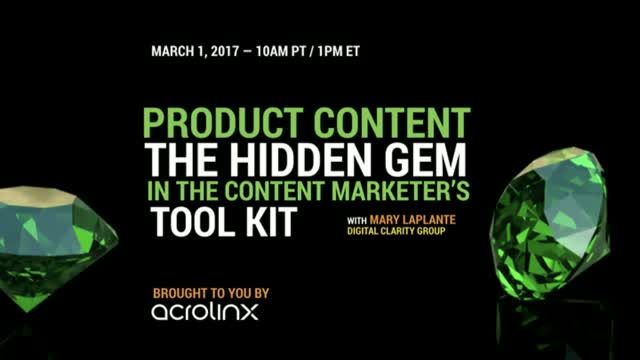 Product Content: The Hidden Gem in the Content Marketer's Tool Kit