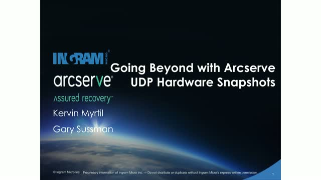 Going Beyond with Arcserve UDP Hardware Snapshots