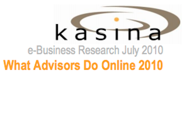 What Advisors Do Online