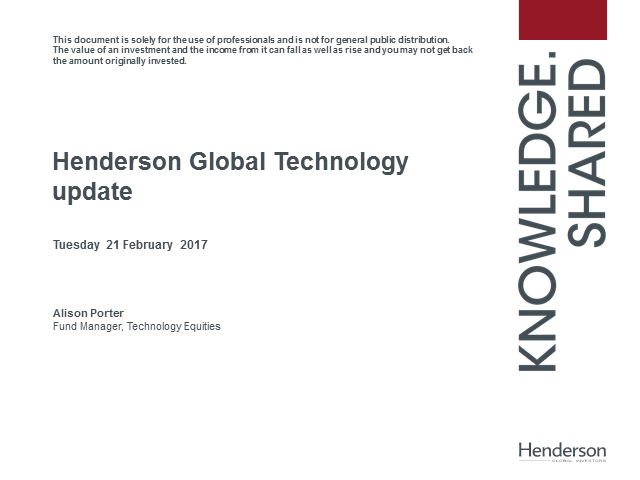 Henderson Global Technology Update