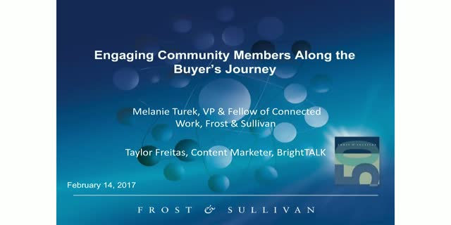 Engaging Community Members Along the Buyer's Journey