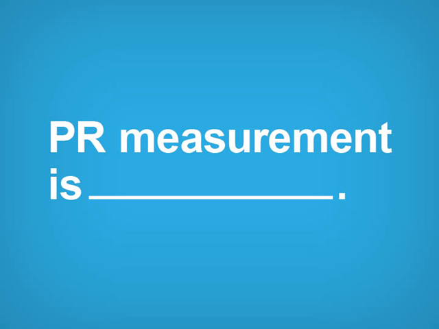 The Cost of No PR Measurement