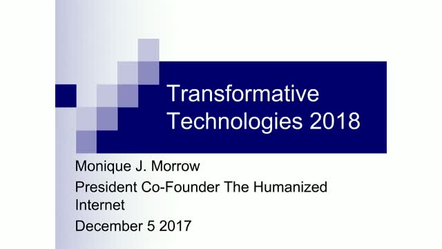 Transformative Technologies 2018: Observations, Influencers & Game Changers