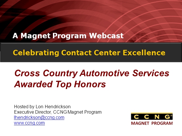 Celebrating Contact Center Excellence at Cross Country Automotive