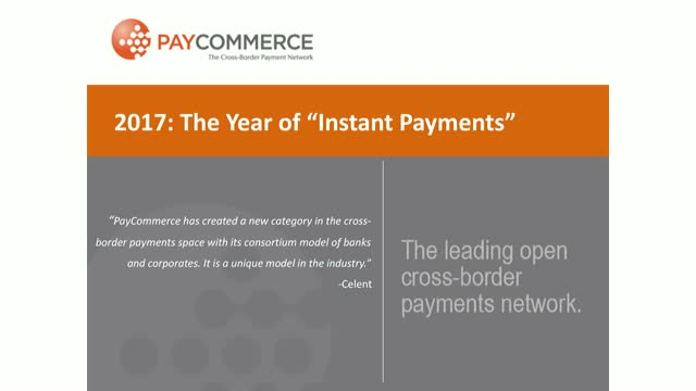 Why 2017 is the Year of Instant Payments - and why it matters now!