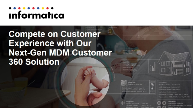 Compete on Customer Experience with Our Next-Gen MDM Customer 360 Solution