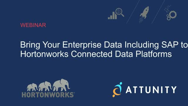 Bring your Enterprise Data including SAP to Hortonworks Connected Data Platform