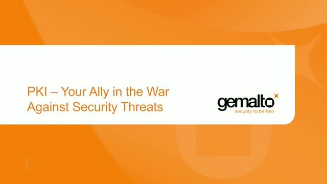 PKI - Your Ally in the War Against Security Threats