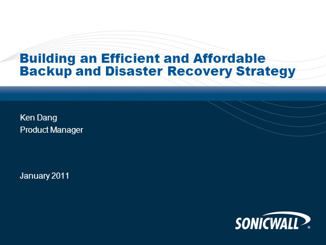 Building an Efficient and Affordable Disaster Recovery Strategy