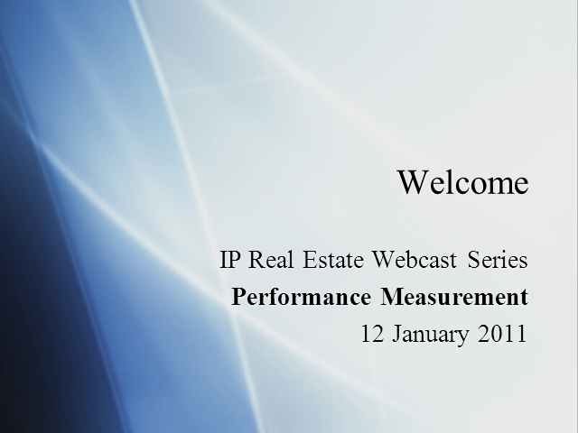Performance Measurement in Real Estate