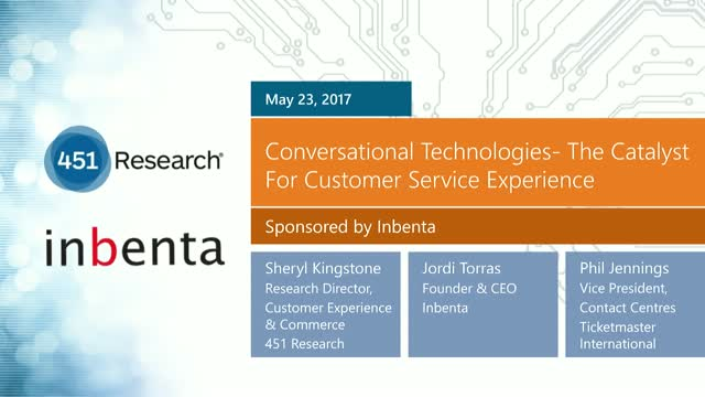 Conversational Technologies- The Catalyst For Customer Service Experience