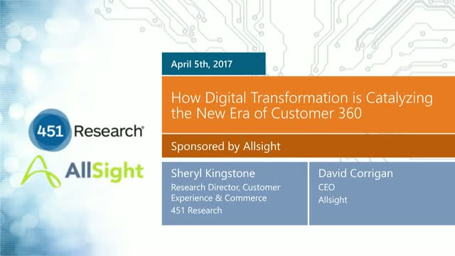 How Digital Transformation is Catalyzing the New Era of Customer 360