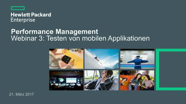 Performance Management - Webinar 3: Testen von mobilen Applikationen