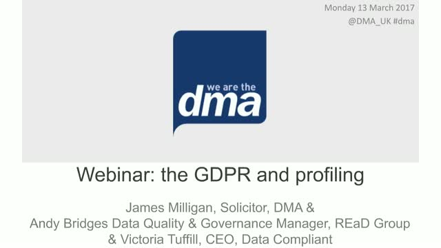 Webinar: the GDPR and profiling