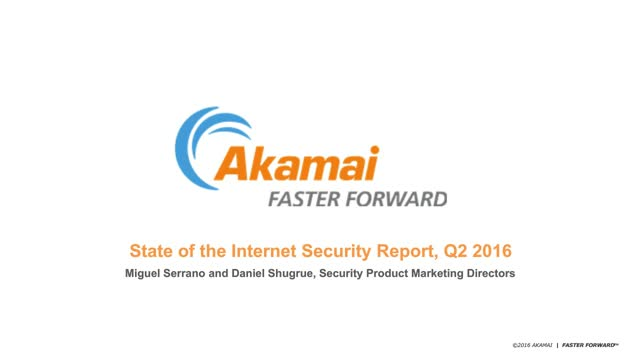 State of the Internet Security Report: Q2 2016 Findings
