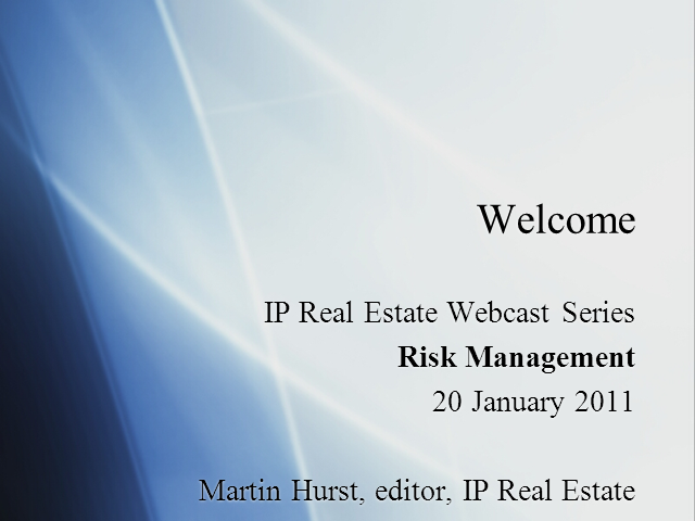 Risk Management in Real Estate