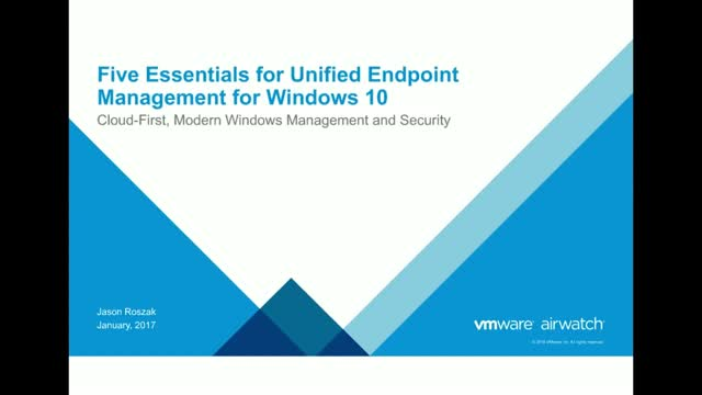 The 5 Essentials of Unified Endpoint Management for Windows 10