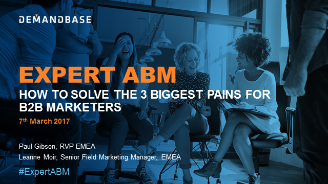 How to solve the 3 biggest pains for B2B marketers