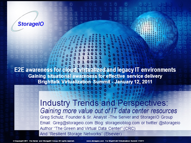 E2E Awareness for Cloud, Virtualized and Legacy IT Environments